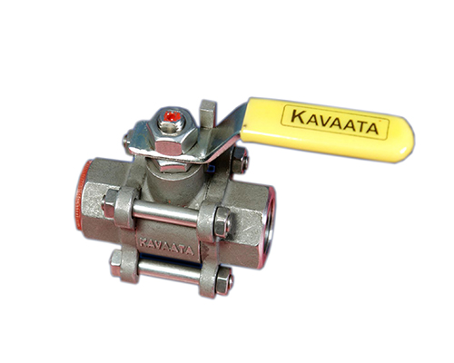 Screwed End 3 Piece Ball Valve